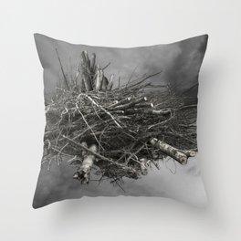 HIGH WOOD Throw Pillow