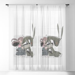 Chibis Sheer Curtain
