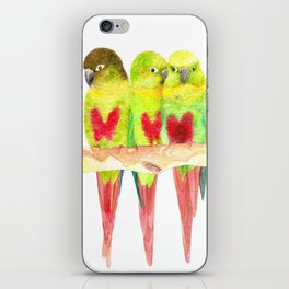 Green cheeked love iPhone Skin