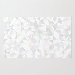 White triangle mosaic Rug