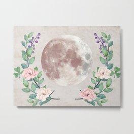 Vanilla Floral D. Metal Print