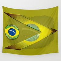 brasil Wall Tapestries featuring Brasil by ilustrarte