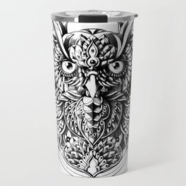 Owl Portrait Travel Mug