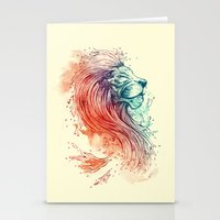 sea Stationery Cards featuring Sea Lion by Steven Toang