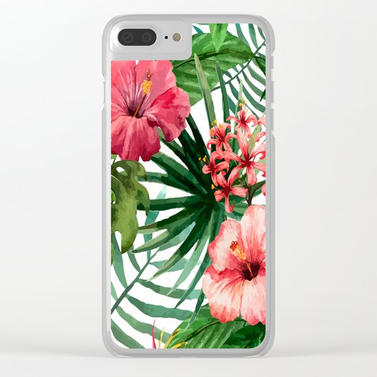 FLOWERS WATERCOLOR 8 Clear iPhone Case