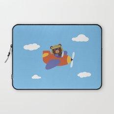 Bear in Airplane Laptop Sleeve