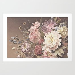 Pastel Bouquet with Peonies Art Print