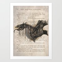 Thestral_HP Art Print