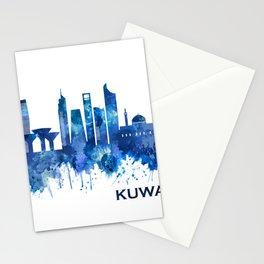 Kuwait City Kuwait Skyline Blue Stationery Cards