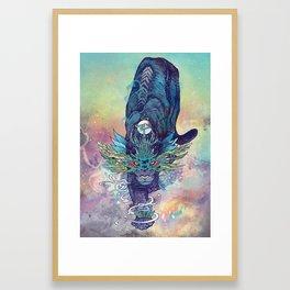 Spectral Cat Framed Art Print