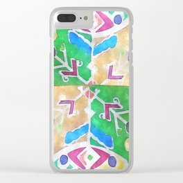 etno flower Clear iPhone Case