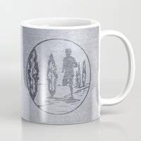 running Mugs featuring Running by Paul Simms