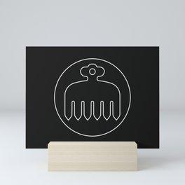 Imagawa Clan · White Mon · Outlined Mini Art Print