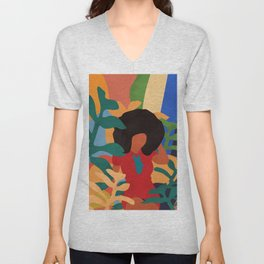 Get lost in nature and you will find yourself  #art print #abstract art Unisex V-Neck