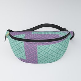 Lilac , turquoise , patchwork Fanny Pack