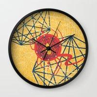 spider Wall Clocks featuring SPIDER by Armin Barducci