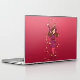 Autumn Whirlwind (Pink) Laptop & iPad Skin