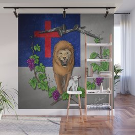 Lion and the Lamb Wall Mural