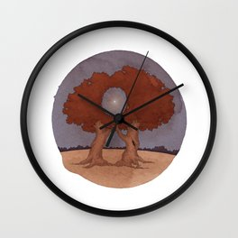 A Moon with a View Wall Clock