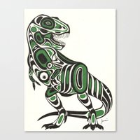 t rex Canvas Prints featuring T-rex by Jenni D.