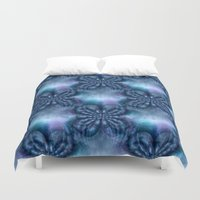 lavender Duvet Covers featuring Lavender... by Cherie DeBevoise