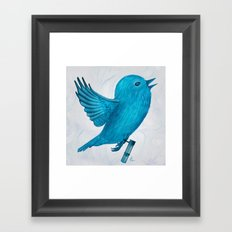 The Original Twitter - Painting Framed Art Print