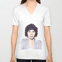 luke hemmings V-neck T-shirts featuring Luke by Daniela Herodesová