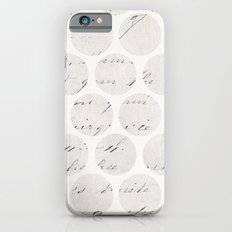 vintage polka dots Slim Case iPhone 6