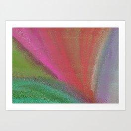 kiwi rainbow dots Art Print