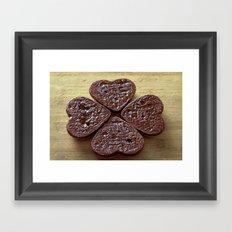 Good luck cookies Framed Art Print