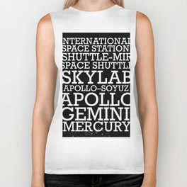 Manned Space Missions print. Biker Tank