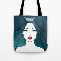 Rainy girl Tote Bag