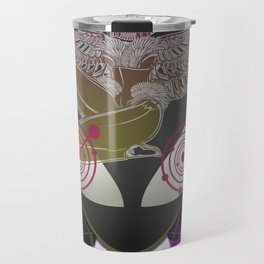 Diamond Fire Alien and the Isis Crop Circles Travel Mug