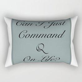 Command Quit Rectangular Pillow