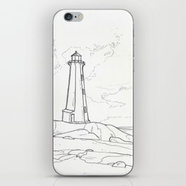 Peggy's Cove Lighthouse iPhone Skin
