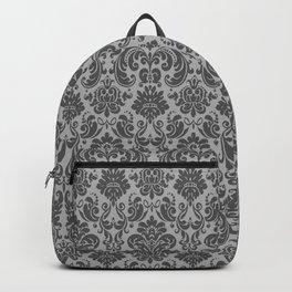 Black & Gray Vintage Decorative Pattern Backpack