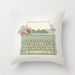 Retro typewriter Throw Pillow