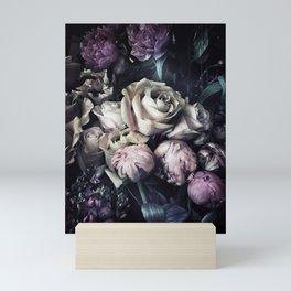 Roses peonies vintage style old masters flowers blooms Mini Art Print