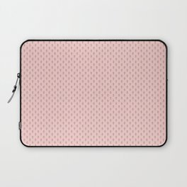 Hedgehog Forest Friends All-Over Repeat Pattern on Baby Pink Laptop Sleeve