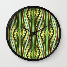 Geometric pattern green no. 1 Wall Clock