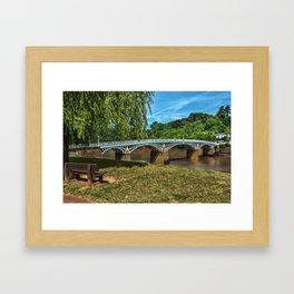 A Riverside Seat At Chepstow Framed Art Print