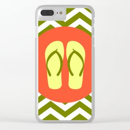 Beach Sandals - Cute Summer Accessories Collection Clear iPhone Case