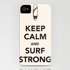 KEEP CALM SURF STRONG iPhone (4, 4s) Slim Case