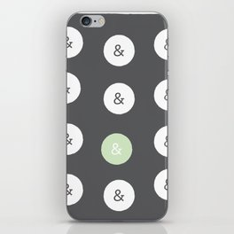 spot color ampersand iPhone Skin