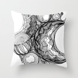 Crescents Throw Pillow