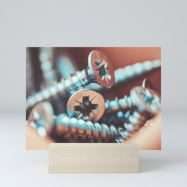 Pile of Flat Crosshead Screws Mini Art Print