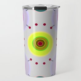Colored discs with dots Travel Mug