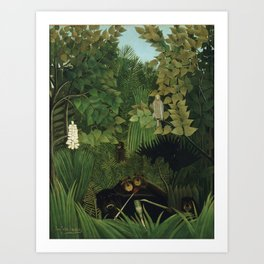 Henri Rousseau - The Merry Jesters Art Print