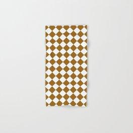 Diamonds - White and Golden Brown Hand & Bath Towel