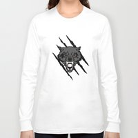 gondor Long Sleeve T-shirts featuring WOLF and ClAW by alexa